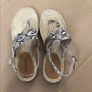 Merona snake print sandals